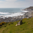 Stock Photo: South West Coast Path Woolacombe Devon England towards Morte Point
