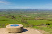 View from Glastonbury Tor Somerset England — Stock Photo