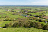 View from Glastonbury Tor Hill Somerset England — Stock Photo