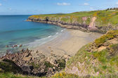 Caerfai Bay Pembrokeshire West Wales UK — Stock Photo