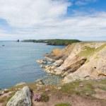 Welsh coastal view towards Skomer Island Pembrokeshire — Stock Photo