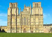 English cathedral Wells Somerset England — Stock Photo
