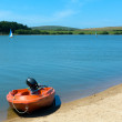 Siblyback Lake near Liskeard Bodmin Moor Cornwall England UK where people enjoy sailing and water sports — Stock Photo