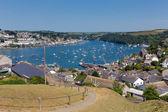 Fowey Cornwall from Polruan England near St Austell on a beautiful summer day — Stock Photo