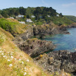 Stock Photo: View from South West Coast path near Polperro Cornwall England