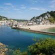Stock Photo: Looe Cornwall England with blue seon sunny summer day