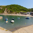 Stock Photo: Polkerris Cornwall England near St Austell and Par on beautiful summer day