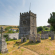 Stock Photo: Church at Talland Bay between Looe and Polperro Cornwall England UK