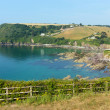 Talland Bay between Looe and Polperro Cornwall England UK on a beautiful blue sly sunny day — Stock Photo