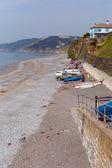 Downderry beach england cornwall, velká británie — Stock fotografie