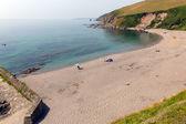 Portwrinkle beach whitsand zálivu poblíž looe cornwall anglie velká británie — Stock fotografie