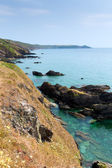 View from Whitsand Bay to Rame Head Cornwall coast England UK near to Plymouth — Stock Photo