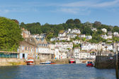 Looe Cornwall England UK with harbour — Stock Photo