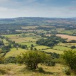 Stock Photo: View from Quantock Hills Somerset of green fields of England