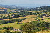 View from on the Quantock Hills Somerset England — Stock Photo