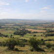 Stock Video: View from Quantock Hills Somerset England og green fields