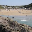 Cornwall coast at Polzeath beach England United Kingdom — Stock Video