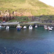 Boscastle harbour North Cornwall England UK — Stock Video