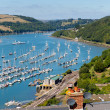 Boast on Dart River Dartmouth Devon from Kingswear — Stock Photo