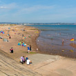 Stock Photo: View of Dawlish Warren beach Devon England on blue sky summer day