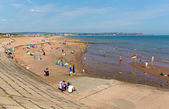 Dawlish Warren beach Devon England on blue sky summer day — Stock Photo