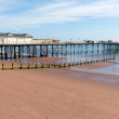 Stock Photo: English pier Teignmouth Devon England with blue sky