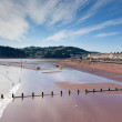 Stock Photo: Teignmouth beach Devon England with blue sky