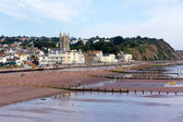 Teignmouthtown and beach Devon England — Stockfoto