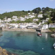 Polperro fishing village harbour Cornwall England UK on a beautiful sunny day — Stock Video