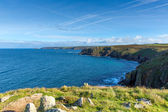 Cornwall coast at Lands End England UK view towards Cape Cornwall and Sennen Cove — ストック写真