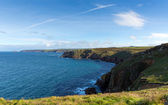 Cornwall coast at Lands End England UK view towards Cape Cornwall and Sennen Cove — Zdjęcie stockowe