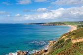 Cornwall coast Praa Sands beach South West England Uk — Stock Photo