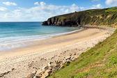 Praa piasków plaży cornwall uk anglia — Zdjęcie stockowe