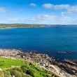 View from St Michael's Mount of Marazion Cornwall England towards Lizard Point and Mullion — Stock Photo #34727431