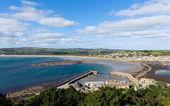 Cornwall coast at Marazion from St Michaels Mount England UK — Stock Photo