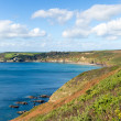 Stock Photo: Kenneggy Sand Cornwall England near PraSands and Penzance on South West Coast Path with blue sky and seon sunny day
