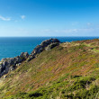 South West coast path Zennor Head Cornwall England UK near St Ives on the Penwith Heritage Coast — Stock Photo