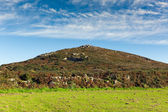 Cornwall countryside Zennor near St Ives England UK with blue sky and clouds — Stok fotoğraf