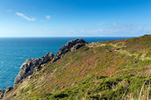 South West coast path Zennor Head Cornwall England UK near St Ives on the Penwith Heritage Coast — Stok fotoğraf