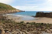 Lamorna plage et crique cornwall en Angleterre sur la péninsule de penwith environ quatre milles au sud de penzance — Foto de Stock