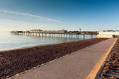 пэйнтон пирса и пляжа англии девон вблизи туристических направлений торки и brixham — Стоковое фото