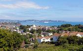 Torquay coast and bay Devon England from Paignton — Stock Photo