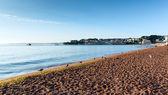 Playa de paignton devon torbay inglaterra cerca de destinos turísticos de torquay y brixham — Foto de Stock