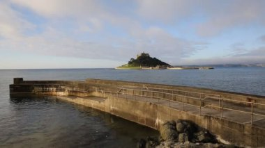 St Michaels Mount Cornwall England — Stock Video