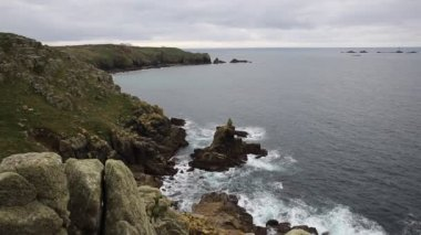 Lands end cornwall anglie od sennen cove — Stock video