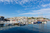 Brixham harbour Devon England UK English harbour summer day with blue sky — Stok fotoğraf