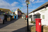 Shops and buildings having entered Lands End Cornwall — Stock Photo