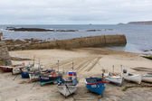 Boats in the harbour Sennen Cove Cornwall England UK near Lands End during summer 2014 — Stockfoto