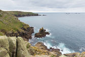 Lands End coast from Sennen Cove Cornwall England UK — Stockfoto