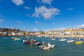 St Ives Cornwall England boats blue sea and sky — Stock Photo